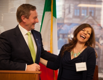 An Taoiseach visits the Boston Consulate during St Patrick's Day celebrations.